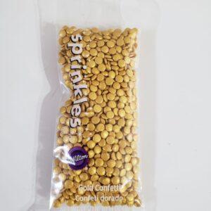 Sprinkles - Confetis dorados 30grs - WILTON - RECOR SRL
